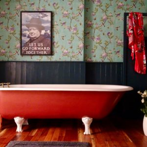 Original Cast Iron Roll Top Bath