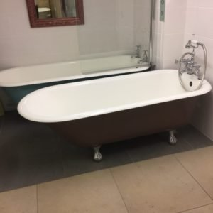antique cast iron roll top bath