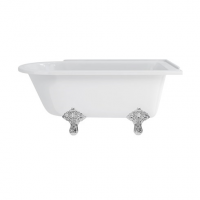 Hamption Right Hand Bath & Chrome Legs