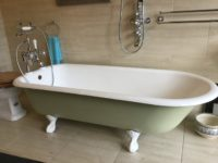 Original Reclaimed Cast Iron Roll Top Bath