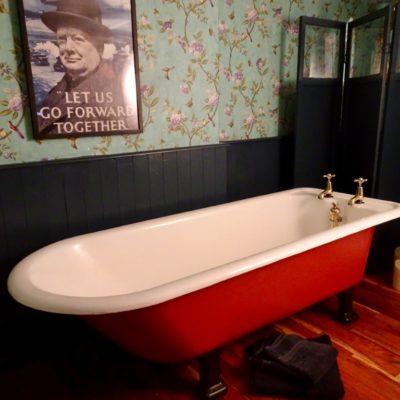 Very Large Original Cast Iron Roll Top Plunger Bath