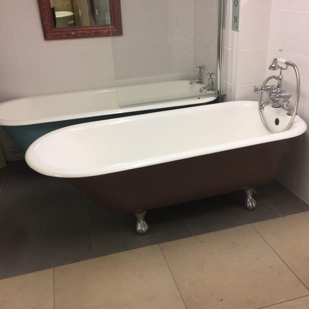 antique cast iron roll top bath