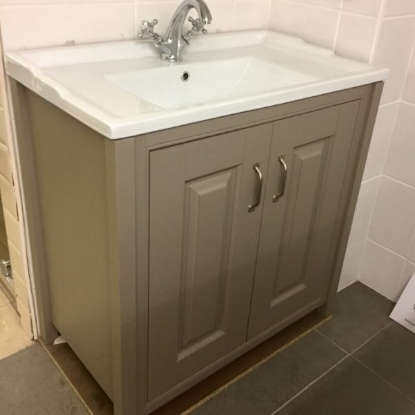 Old London Basin and cupboard