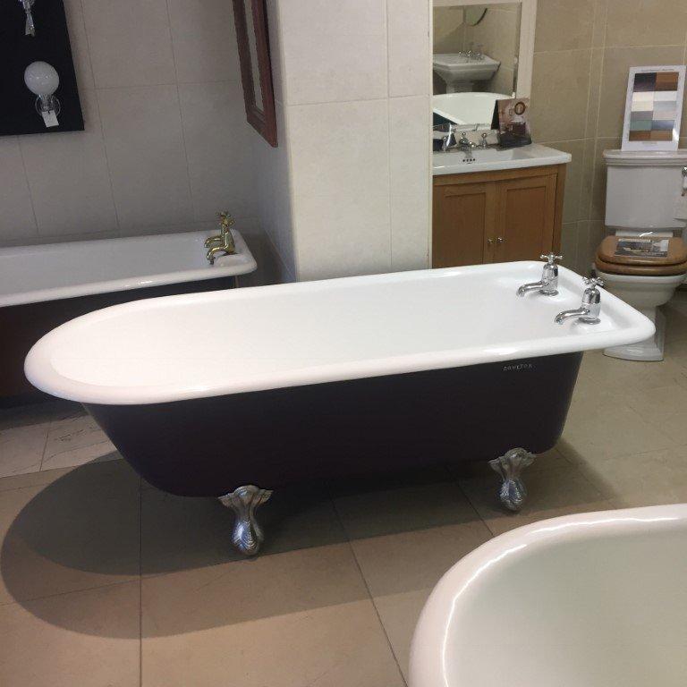 Original Cast Iron Edwardian Ex Plunger Bath