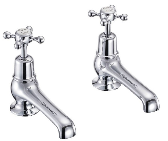Burlington Bath Pillar Antique roll top bath taps