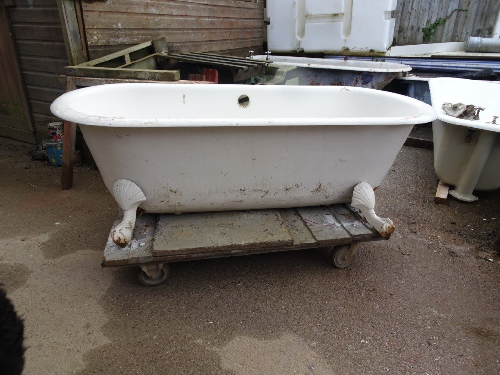 French Double Ended Antique Bath