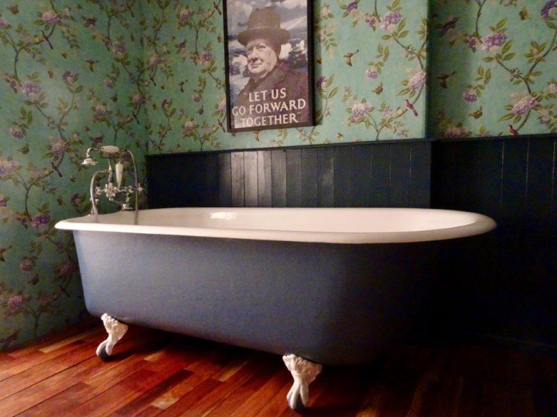Very Large Original Cast Iron Roll Top Bath