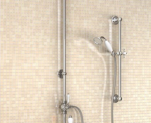 "Burlington Bath Shower Mixer & 9"" Shower Rose"