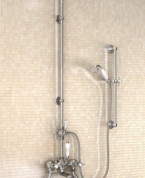 "Burlington Bath Shower Mixer & 9"" Shower Rose"