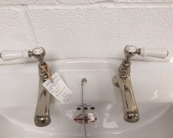 Hollys of Bath Long Nose Nickel Basin Taps