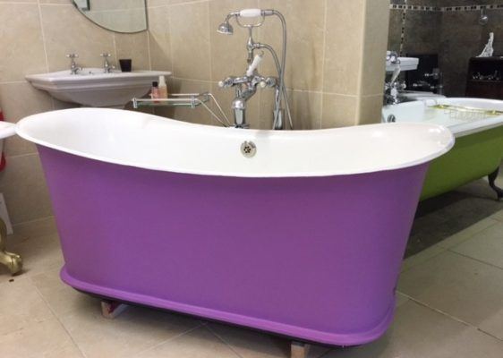 Original French Cast Iron Bath