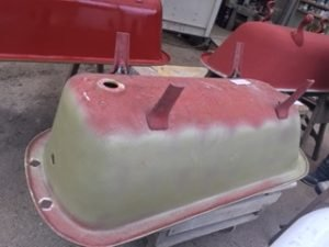 Small roll top bath before restoration