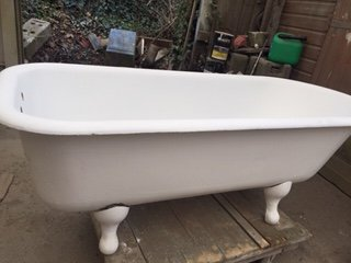 Before cast iron bath restoration