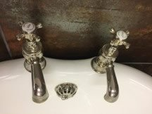 tutbury nickel bath taps 2